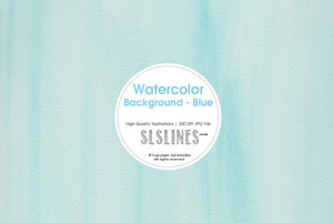 FREE Watercolor Background - Blue