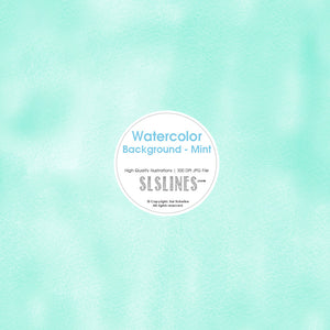 FREE Watercolor Background - Mint - slslines