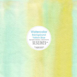 FREE Watercolor Background - Yellow Blue - slslines