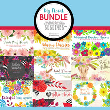 Load image into Gallery viewer, Big floral watercolor clipart bundle