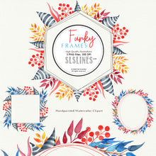 Load image into Gallery viewer, FREE Funky Frames Watercolor Clipart
