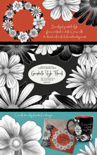 Load image into Gallery viewer, Graphite Style Floral Design Set