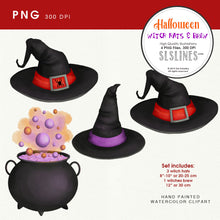 Load image into Gallery viewer, Witches Hat & Brew Clipart PNG