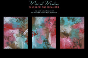 Mixed Media Backgrounds in Red, Brown & Blue - slslines