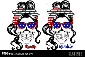 Momlife America Pair PNG sublimation July 4th