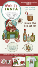 Load image into Gallery viewer, Naughty Santa Christmas Illustrations PNG