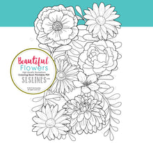 Load image into Gallery viewer, printable coloring book PDF flowers and garden