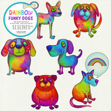 Load image into Gallery viewer, Rainbow Funky Dog Illustrations PNG Clipart