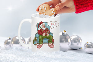 Grumpy Santa Claus Bad Attitude PNG sublimation