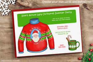 Ugly Christmas Sweater Clipart PNG
