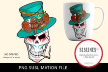 Load image into Gallery viewer, Scary Voodoo Skull PNG sublimation