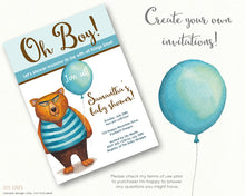 Load image into Gallery viewer, Watercolor Bear in Sweater with Balloon! - slslines