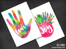 Load image into Gallery viewer, Rainbow Hands Watercolor Shapes - slslines