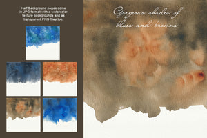 Dark Watercolor Backgrounds & Headers - slslines