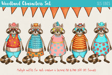 Load image into Gallery viewer, Woodland Creatures Character Creator Set - slslines