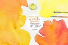 Load image into Gallery viewer, Yellow Orange Watercolor Splatter Shapes