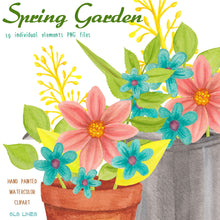 Load image into Gallery viewer, Spring Garden & Boots Watercolor Set - slslines