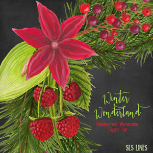 Winter Wonderland Christmas Watercolors - slslines