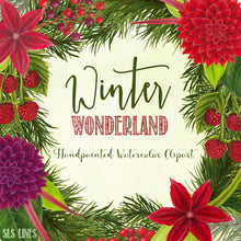 Load image into Gallery viewer, Winter Wonderland Christmas Watercolors - slslines