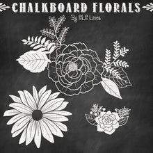 Load image into Gallery viewer, Chalkboard Birds & Florals Graphic Set - slslines