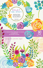 Load image into Gallery viewer, Colorful Floral Abstracts Watercolor Clipart