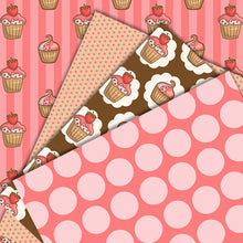 Load image into Gallery viewer, FREE Cupcake Background Papers