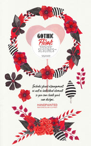 Gothic Flowers Watercolor Clipart