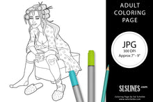 Load image into Gallery viewer, Printable ADULT Coloring Page: Tired Mama