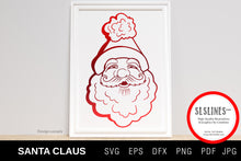 Load image into Gallery viewer, Happy Santa Claus Illustration SVG