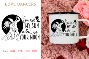 Dancers in Love SVG - Sun & Moon Dance PNG