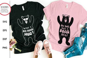 Bear SVG - Bear Hug Cut Files