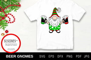 Christmas Gnome Beer Drinkers SVG EPS PNG