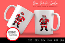 Load image into Gallery viewer, Sleepy Santa & Beer Drinking Santa Claus SVG