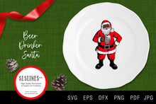 Load image into Gallery viewer, Beer Drinking Santa Claus SVG