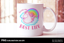 Load image into Gallery viewer, Cute Best Life Unicorn PNG sublimation