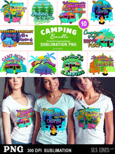 Load image into Gallery viewer, Camping Sublimation BUNDLE - 10 Campsite & RV Designs