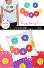 Load image into Gallery viewer, Daisy Smiley Face PNG sublimation