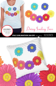 Daisy Smiley Face PNG sublimation