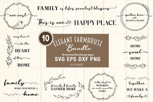 Farmhouse Signs SVG Bundle - Family Quotes Designs