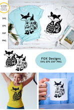 Load image into Gallery viewer, Fox Shape SVG - Cute Fox Cut Files