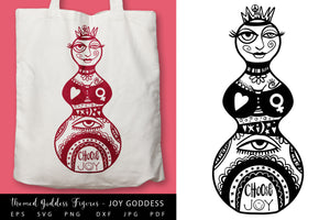 Mystical Goddess Figures BUNDLE SVG