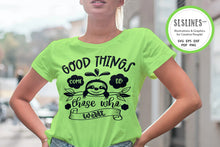 Load image into Gallery viewer, Patient Sloth SVG - Good Things Come PNG