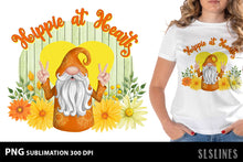 Load image into Gallery viewer, Hippie Gnome Sublimation Design PNG