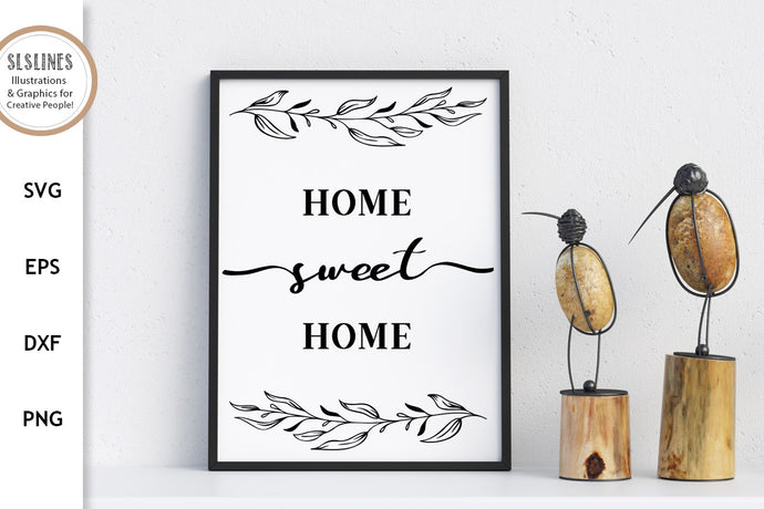 Home Sweet Home Cut File - Family Farm House SVG