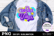 Load image into Gallery viewer, IDGAF Vibes Adult Sublimation Design PNG