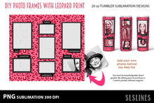 Load image into Gallery viewer, Skinny Tumbler Sublimation - Leopard Print DIY Photos