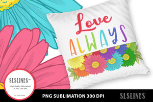 Daisy - Love Always PNG sublimation