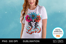 Load image into Gallery viewer, Retro Love Flower Skull Sublimation