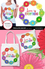 Load image into Gallery viewer, Daisy Wreath - Love is Everything PNG sublimation