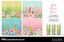Load image into Gallery viewer, Skinny Tumbler Sublimations - Pink Meadow Flowers